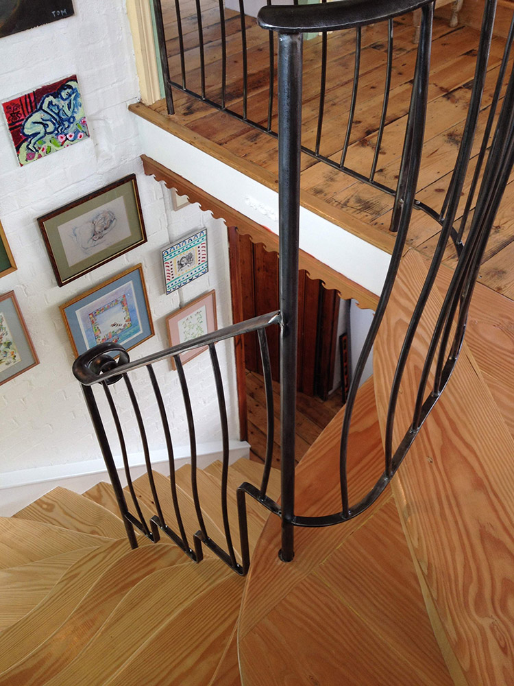 Brushed Steel Balustrade Simon Connett Blacksmith Devon