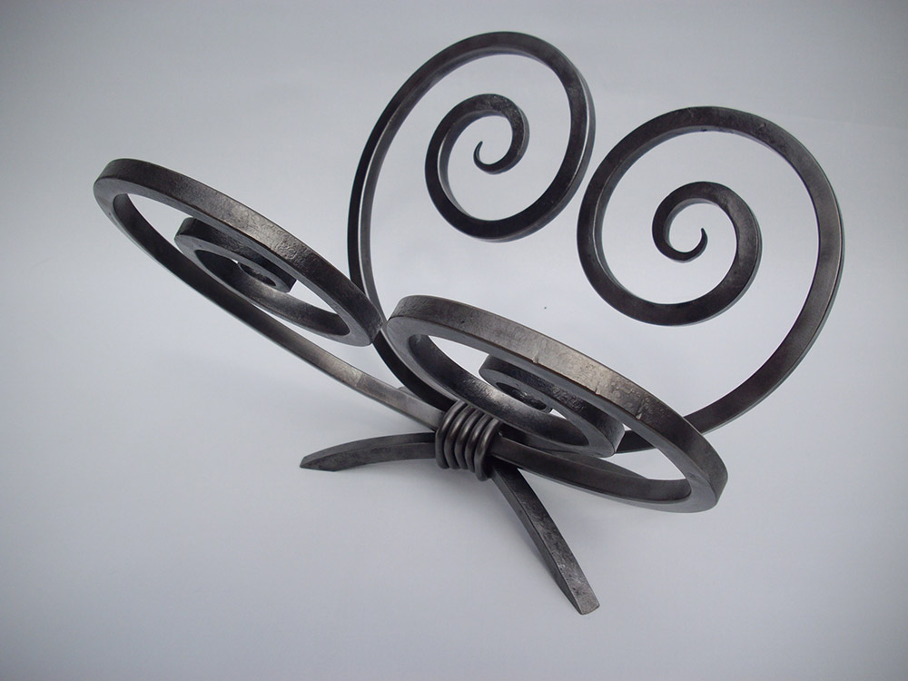 Butterfly Magazine Rack Simon Connett Blacksmith Devon