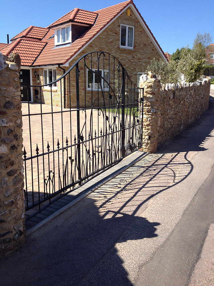 Double Driveway Gates Simon Connett Blacksmith Dorset