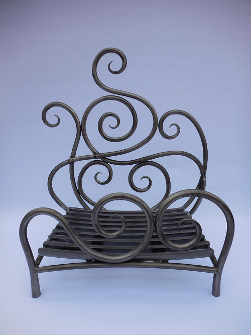 Forged Steel Fire Basket Simon Connett Blacksmith