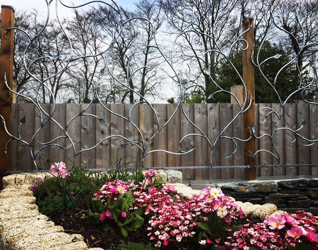 Forged and Galvanised Organic Fencing Simon Connett Blacksmith Dorset