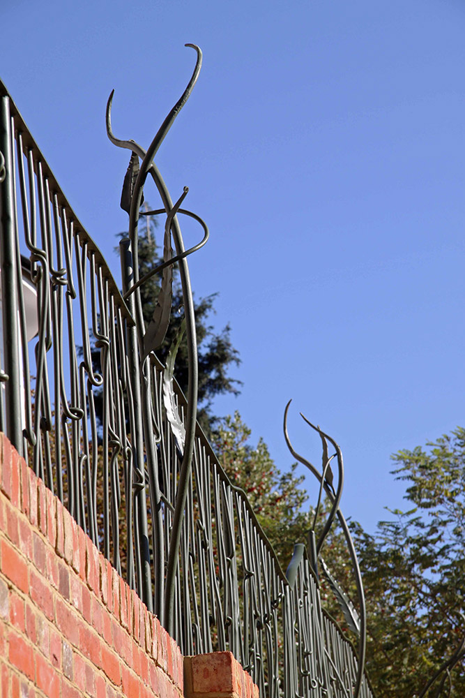 Forged Railing and Garden Sculptures Simon Connett Blacksmith Devon