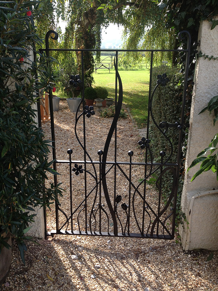 Forged Steel Garden Gate Simon Connett Blacksmith Dorset