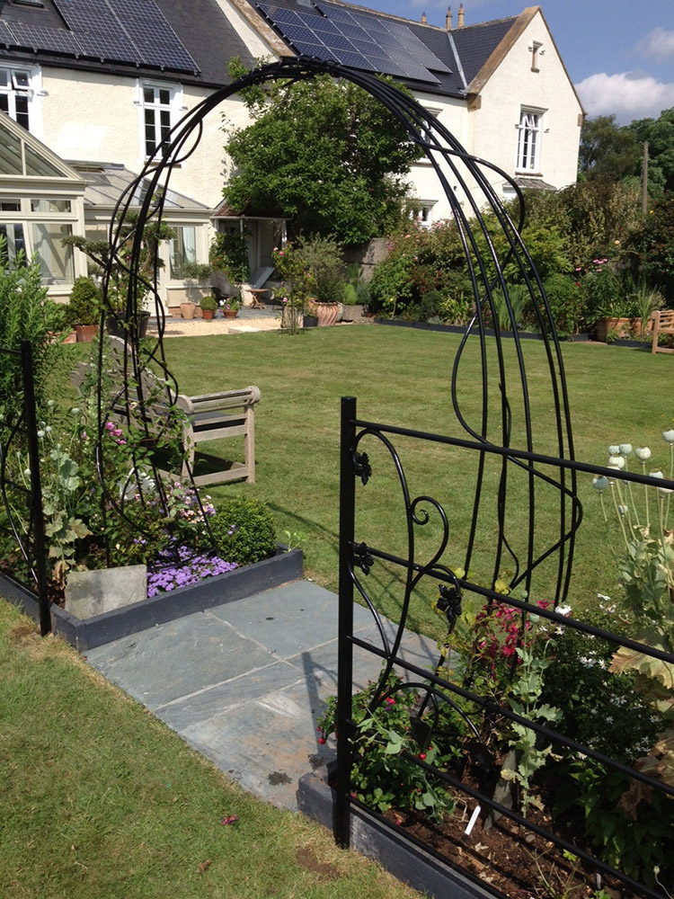 Garden Arch and Fencing Simon Connett Blacksmith Devon