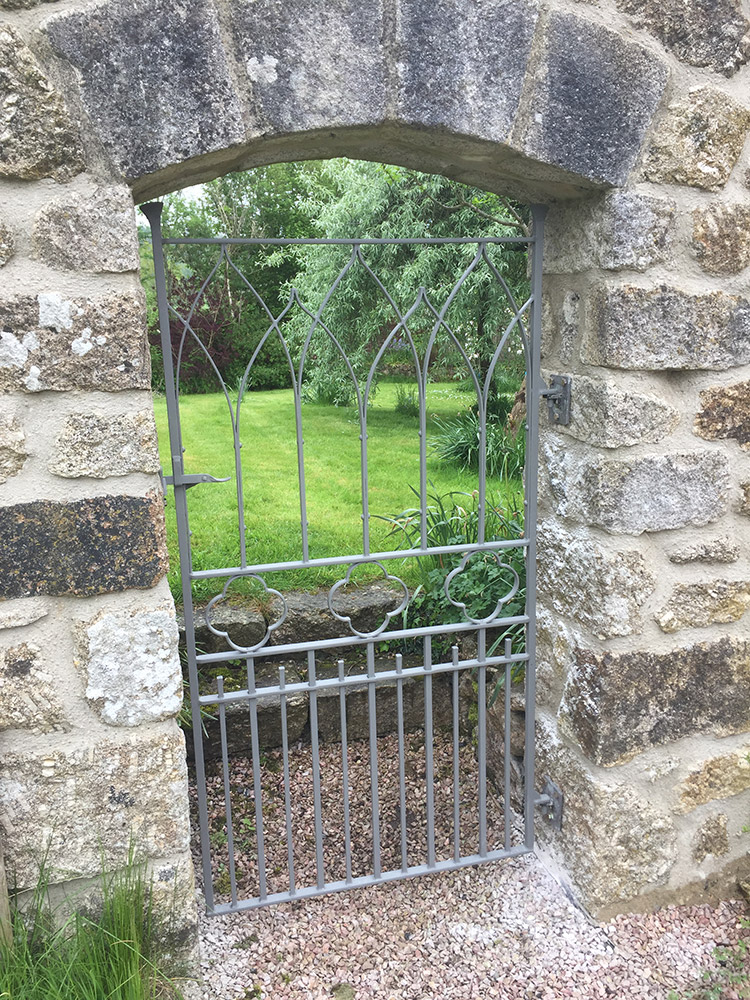 Gothic Arch Garden Gate Simon Connett Blacksmith Dorset