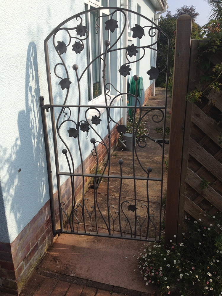 Leaf and Flower Garden Gate Simon Connett Blacksmith Devon