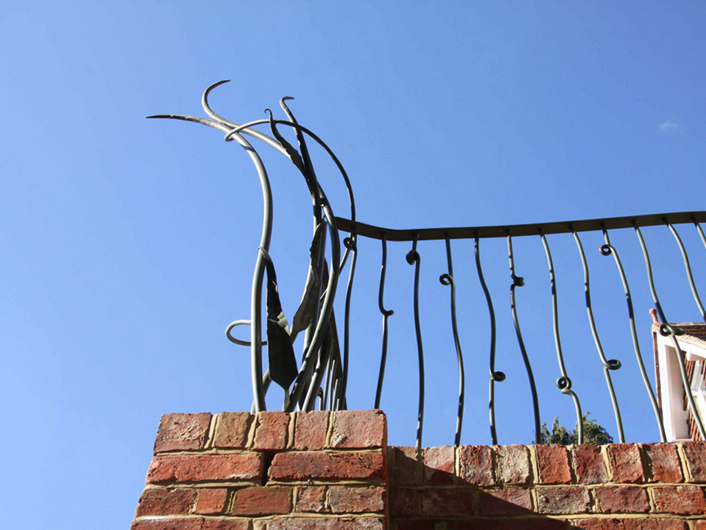 Organic Sculpture and Railing Simon Connett Blacksmith Devon
