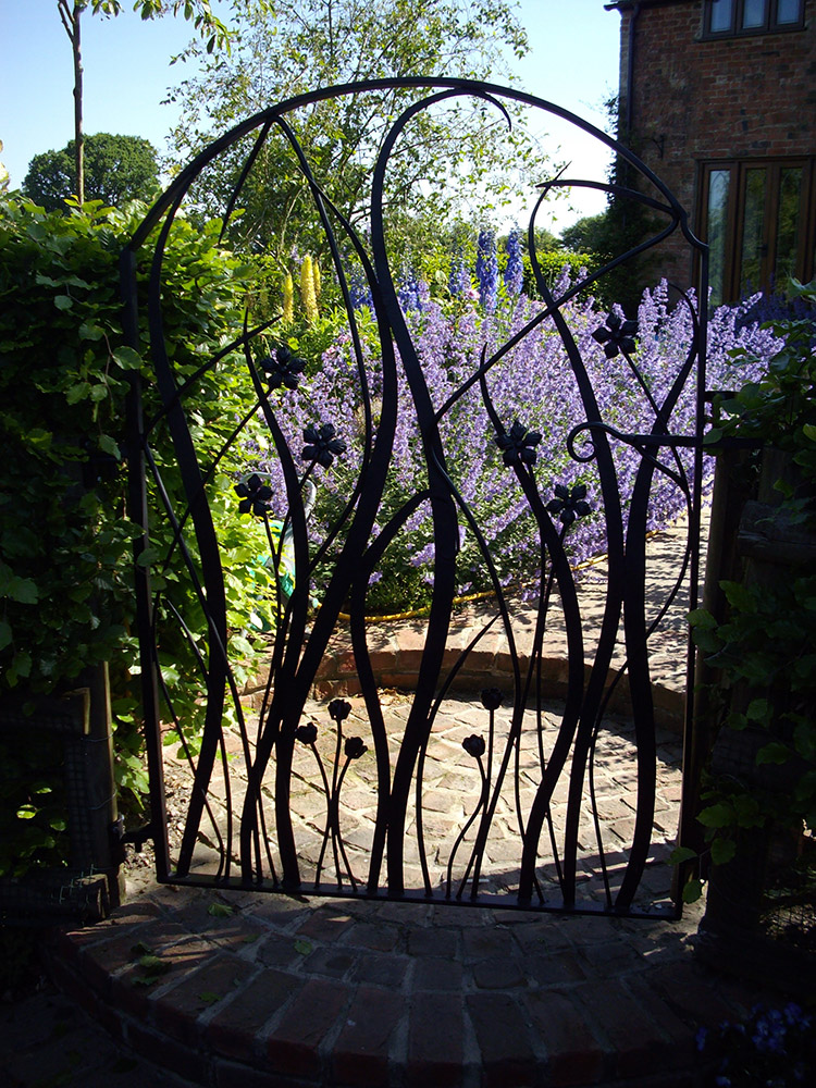 Wild Flower Garden Gate Simon Connett Blacksmith Dorset