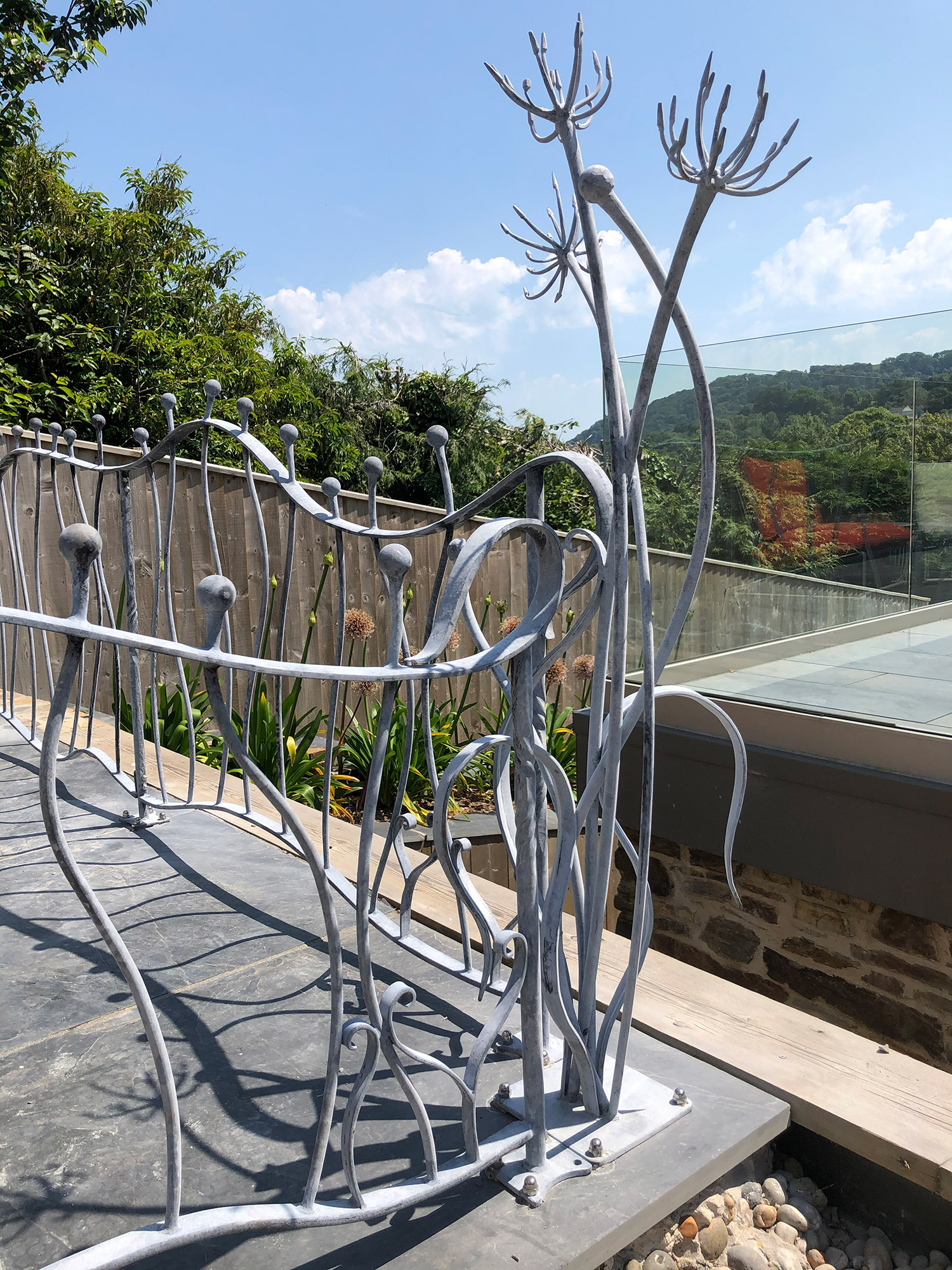 Forged Organic Railing Agapanthus Simon Connett Blacksmoth Seaton