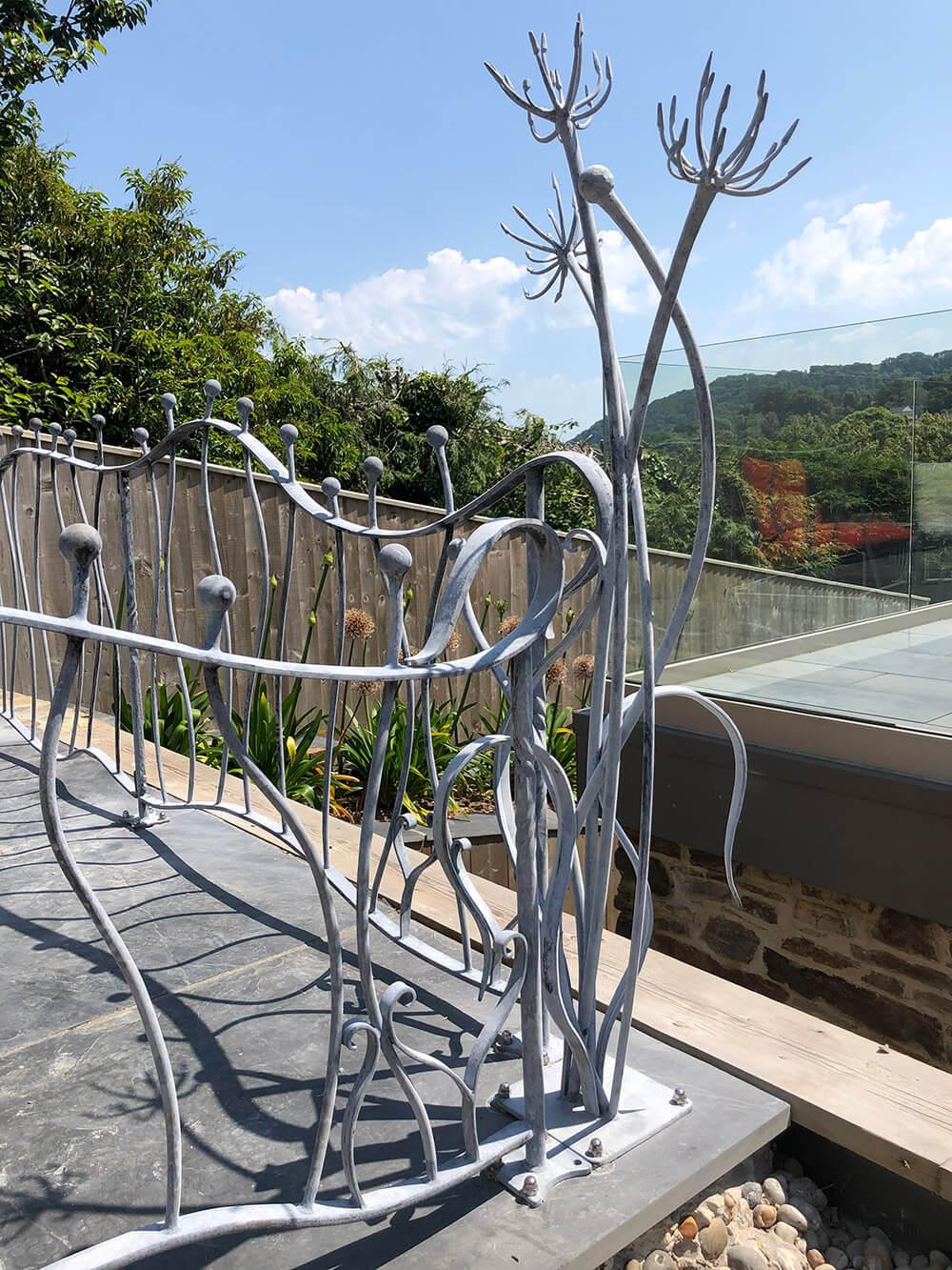 Agapanthus Railings Blacksmith Bespoke