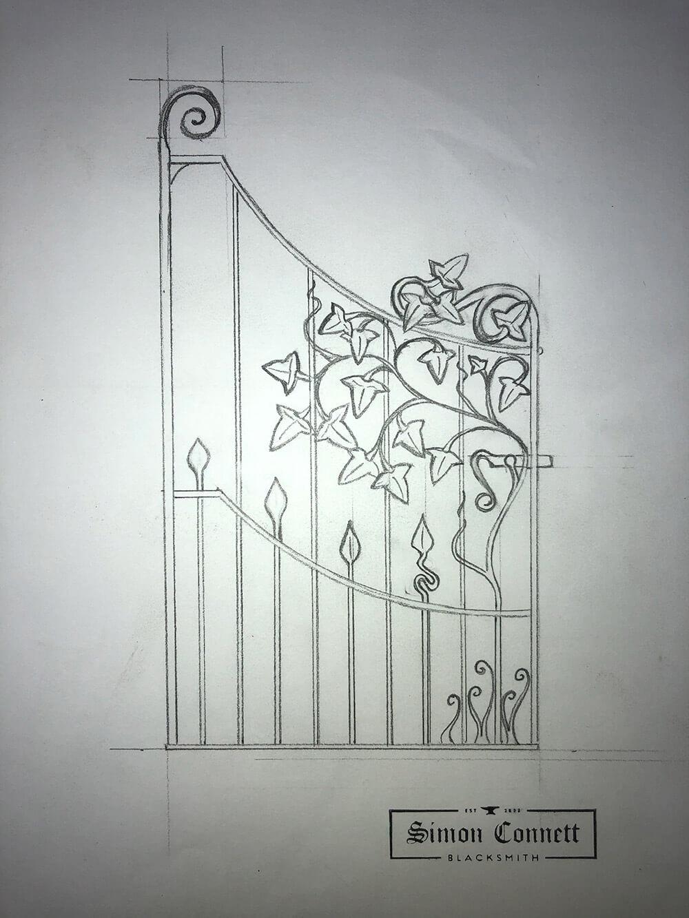 Stonehayne Gate Drawing