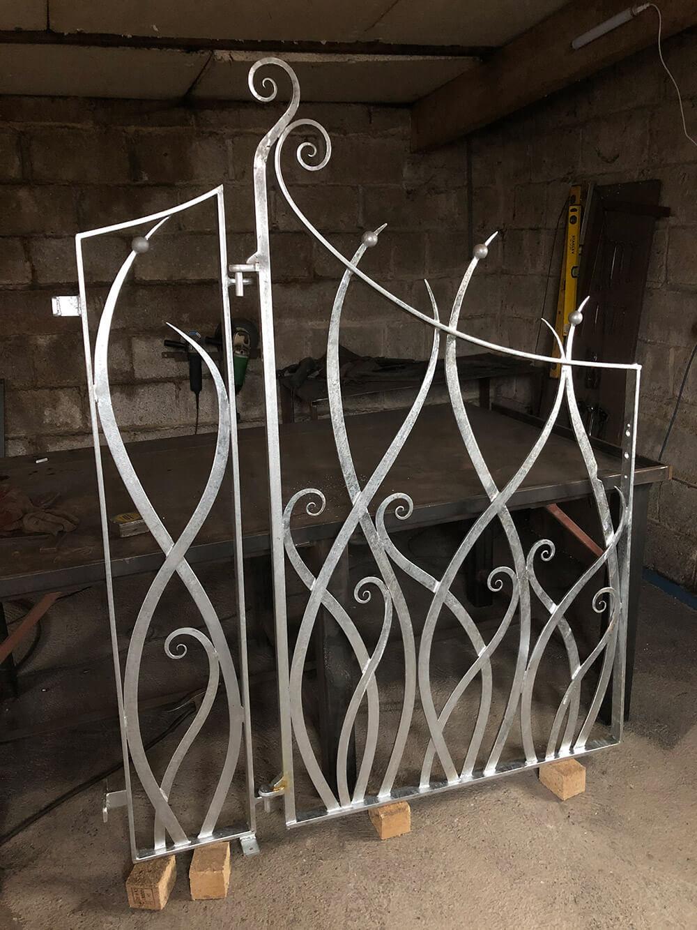 Art Nouveau Gate Before Treatment