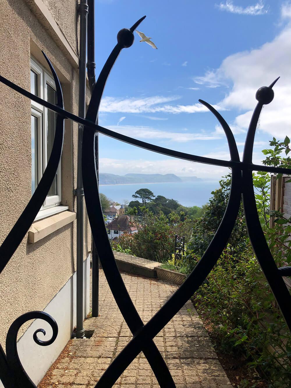 Art Nouveau Gate Installed